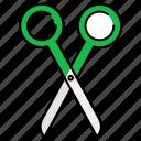 scissor, cutting, scissors, cut, equipment, tool
