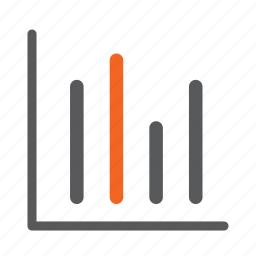 bar, diagram, graph, line icon