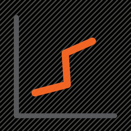 diagram, graph, growth, increase icon