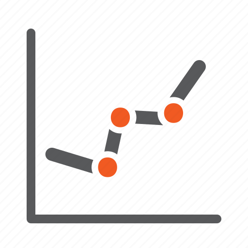 diagram, graph, progress icon