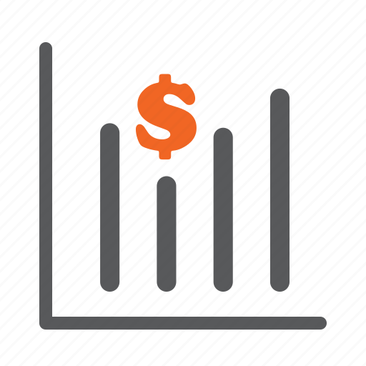 diagram, dollar, graph, growth icon