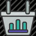 bar, chart, basket, graph, data