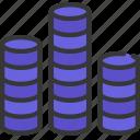 circle, bar, chart, graph, data