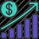 profit, bar, chart, graph, data