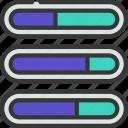 progress, bars, graph, data, progression