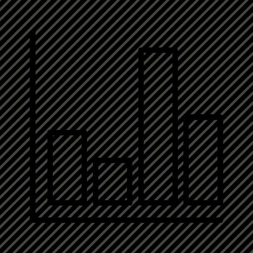 bar, cells, chart, graph, market icon