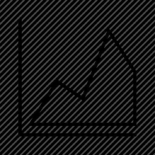area, chart, graph, line, market icon