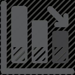 bar, chart, diagram, down, graphic, statistics icon