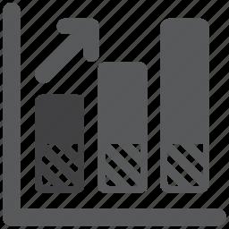 analytics, business, chart, diagram, graphics, statistics, up icon
