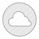 cloud, digital, files, online, save, weather icon