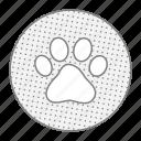 animal, cat, dog, dogfingerprint, paw icon