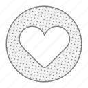 health, heart, like, love icon