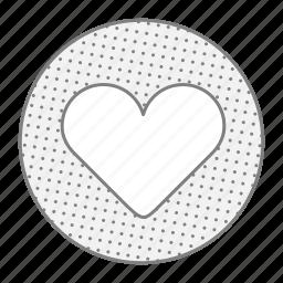 health, heart, like, love icon