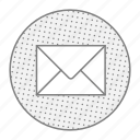 letter, mail, post, subscription icon