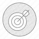 aim, darts, goal, shoot, target icon
