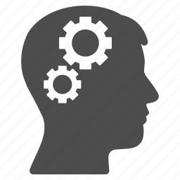 brain, education, gears, idea, knowledge, power, solution icon