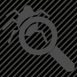 analysis, antivirus, bug, debug, debugger, optimization, programming icon