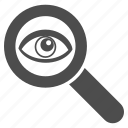 view, find, search, zoom, eye, seo audit, spy glass