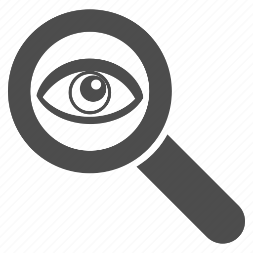 eye, find, search, seo audit, spy glass, view, zoom icon