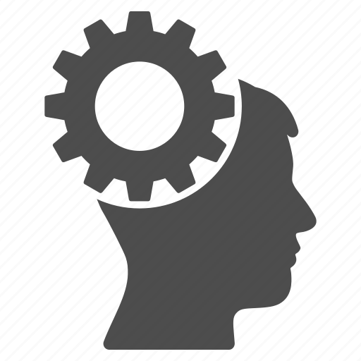 brain, configuration, gear, science, setting, settings, tools icon
