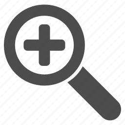 add, enlarge, health, medical, search, view, zoom in icon