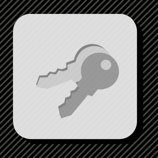 gray, key, keys, lock, locked, password, secure, security icon