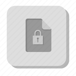doc, document, documents, file, gray, lock, password, security icon