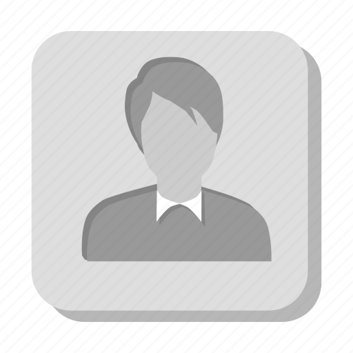 account, avatar, business, businessman, gray, human, male, man, men, person, profile, user, users icon