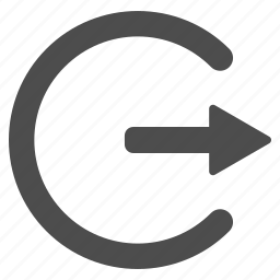 arrow, cancel, close, door, exit, log out, login, logout icon