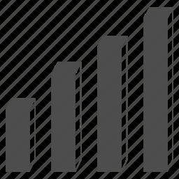 3d bar chart, analytics, charts, diagram, graph, graphs, statistics icon
