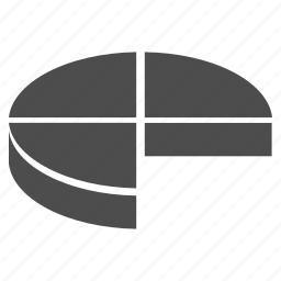 3d pie chart, analytics, charts, diagram, graph, graphs, statistics icon