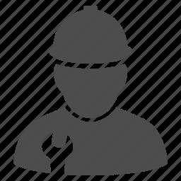 engineer, job, mechanic, repair, service, work, worker icon