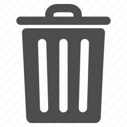 basket, clean, container, dust bin, recycle, remove, trash icon