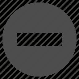 closed, delete, forbidden, minus, no entry, remove, subtract icon