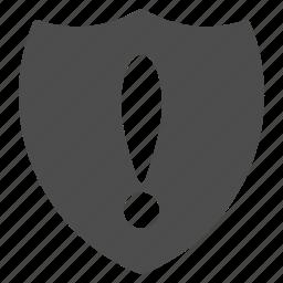 alert, antivirus, protection, security, shield, virus, warning icon