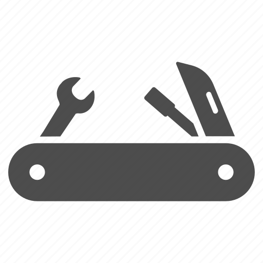 blade, equipment, solution, swiss knife, tool, tools, utility icon