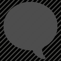 balloon, bubble, chat, comment, communication, forum, idea, media, message, post, question, sms, speak, speech, tag, talk icon