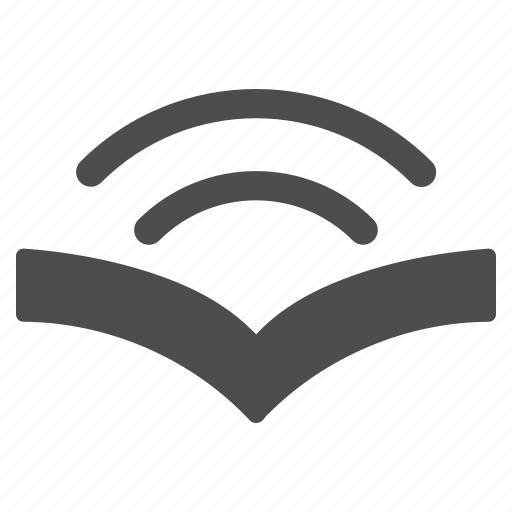 audio, audio book, education, guide, learning, reading, speaker icon