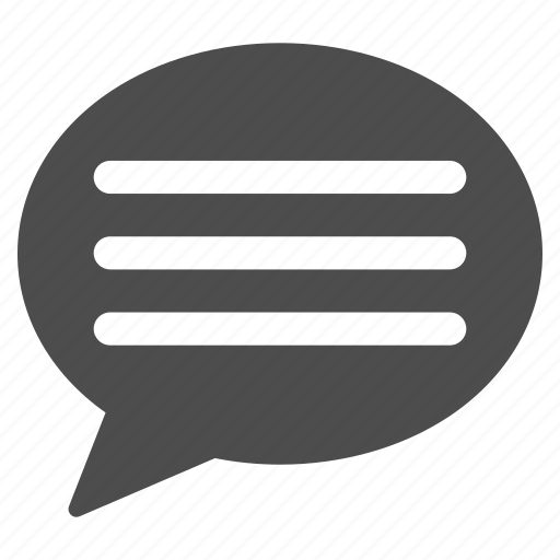 bubble, chat, comment, communication, human speech, talk, text message icon
