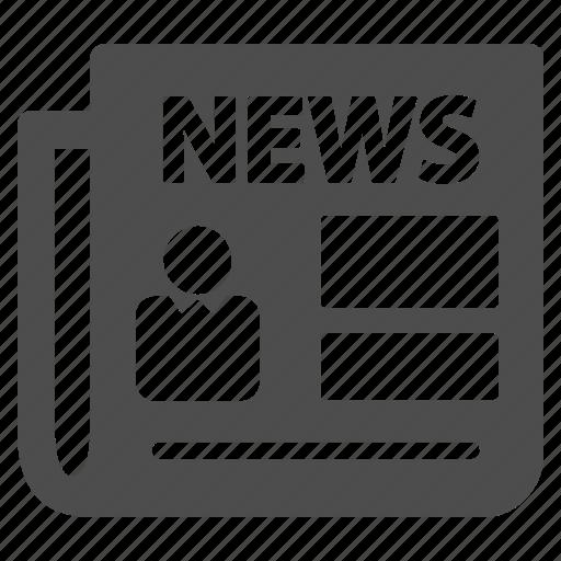 document, journal, magazine, mass media, news, newspaper, paper icon