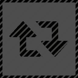 arrow, exchange, refresh, retweet, sync, twitter, update icon