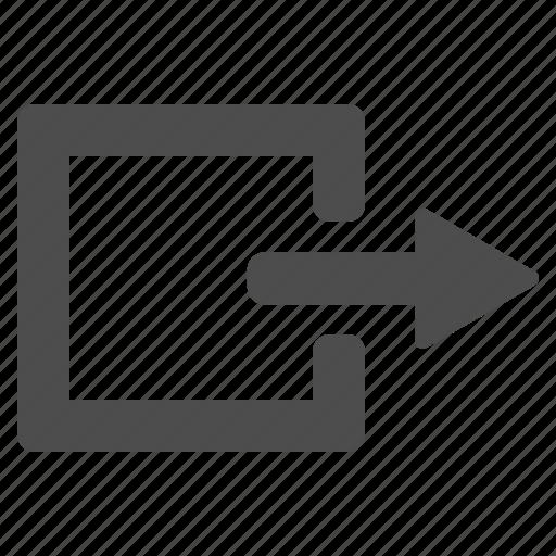 arrow, cancel, close, door, exit, log out, login, logout, out icon