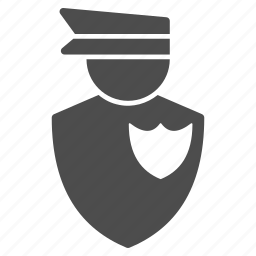 army, border, cap, control, custom, customs, fireman, guard, justice, law, legal, military, officer, official, police, police officer, policeman, policy, protection, safety, security, sheriff, shield, soldier icon