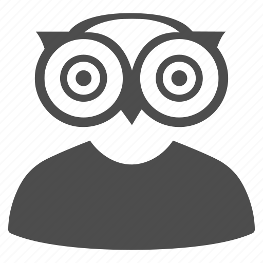 education, knowledge, learning, owl, science, student, teacher icon