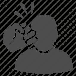 crime, danger, fist strike, knock, power, robbery, sport icon