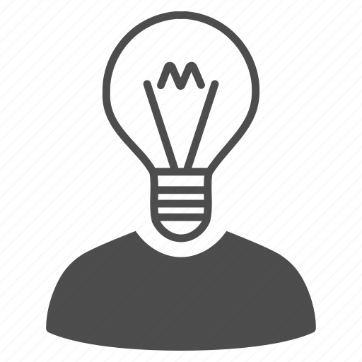 brain, bulb, business idea, education, lamp, mind, think icon
