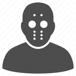 crime, danger, evil, human, killer, maniac mask, prisoner icon