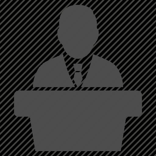 boss, government, professor, speaker, speech, teacher, university icon