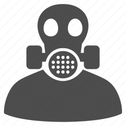 air safety, chemical, equipment, filter, gas mask, health warning, respirator icon