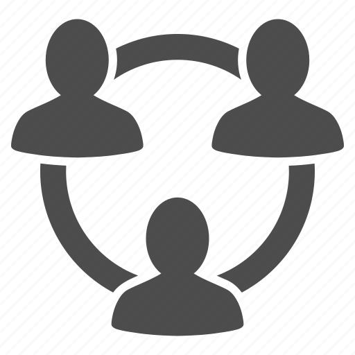 connection, friends, group, meeting, ring, structure, trust icon